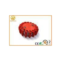 Round Flashing Magentic ED Flare Traffic Warning Lights With Compression