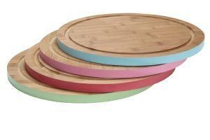 China Eco Friendly Bamboo Veg Cutting Board Set With Painting on sale