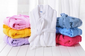 China Thick Cotton Terry Cloth Robes Customised, Unisex Adults Bathrobes Sets Supplier on sale