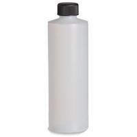8 oz Natural HDPE Plastic Bottle with Black Cap