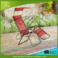 Portable Oversized Zero Gravity Folding Lounge Recliner Chair with Pillow and Canopy