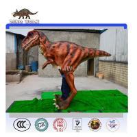 Walking with realistic animatronic dinosaur costume