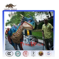 Amusement Park Realistic Mechanical Walking WIth Dinosaurs Costume For Sale