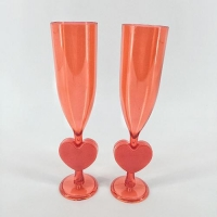 China PK2 Valentine's Day Plastic Champagne Flutes on sale