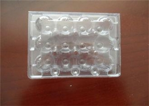 China Middle Split PE Hard Plastic Egg Cartons Without Cracking And Crashing on sale