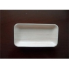 China Light White Plastic Packaging Trays , Disposable Food Trays With Oblong Shaped for sale
