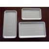 China White Small Hard Plastic Packaging Trays Seal Lid Fish For Meat Packaging for sale