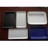 China Hamburger Plastic Packaging Trays , Rectangular Serving Tray Easy Cleaning for sale