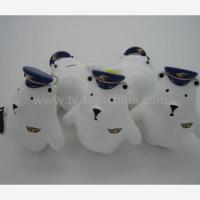China Mini White Bear Toys Animal Shaped Keychain Toy on sale