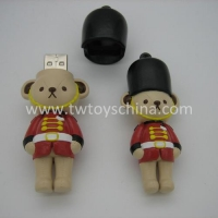 Creative Mini Cartoon USB Drive Lovely Bear Character 3D