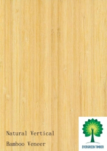 China Flexible Natural Vertical bamboo veneer for Furniture and Floor on sale