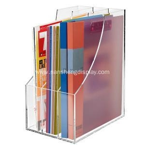 China 3 Slots Clear Acrylic Desktop Literature Organizer on sale