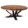 China Stainless Steel Foot Round Dining Table Marble Top Kitchen Table for sale