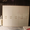 China Luxury Clothing Filing Cabinet Slide Bedroom Furniture Wardrobe for sale