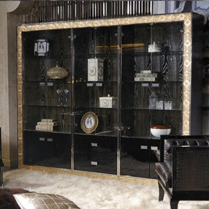 China Buffet with Solid Wood Frame and Ebony Veneer in Dinning Room Use on sale