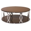 China Coffee Table with Stainless Steel Base and Pearl Fishlike Pattern in Living Room for sale