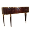 China Newly Luxury Latest Design Solid Wood Luxury Console Table with Mirror for sale