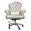 China Classical Office Chair Stainless Steel Base and Leather Upholstery in Study Room for sale