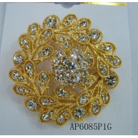 Gold Rhinestonee Vintage Brooch Pin