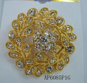 China Gold Rhinestonee Vintage Brooch Pin on sale