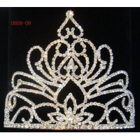 China Delicate Rhinestone Wedding Costume Pageant Tiara on sale