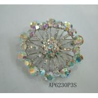 Vintage Rhinestone Bling Crystal Flower Brooch Pin