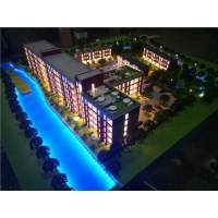 China UK Residential 3d Scale Physical Model With Lake,scale Figures For Architectural Models on sale