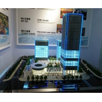 China Architectural Building Model Maker In China , Led Lighting Commercial Scale Model on sale