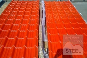 China PPGI / Ppgl Prepainted Galvanized Color Steel Tile For Building on sale
