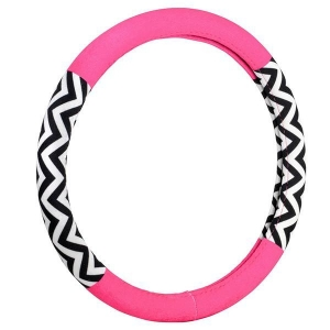 China Automotive Accessories 551693Chevron Color Block Pink Hyper-Flex Core Steering Wheel Cover on sale