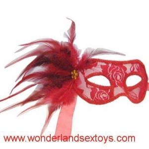China PVC & feather Mask Cutout Eye Mask for Masquerade Party / Halloween Dress Costume on sale