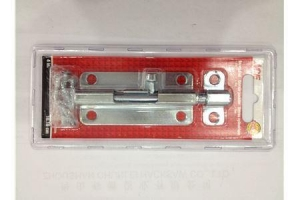 China High quality steel door latch blister packing slide 4 inch barrel bolt latch on sale