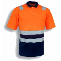 POLO shirt Mens stripe long sleeve safety polo shirt 11000014