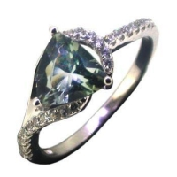 925 Sterling Silver Fancy Cubic Zirconia Stone Ring