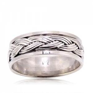 China 925 Sterling Silver Plain Ring on sale