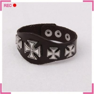 China Leather bracelets for men, adjustable leather cuff bracelet on sale