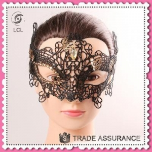 China Masquerade party mask with butterfly decoration, customized halloween mask on sale