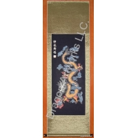 China New Chinese Art Wax Dye Chinese Dragon Scroll on sale