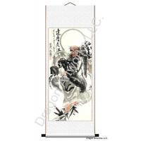 China Chinese Buddha Art Stunning Scroll Painting of Buddhist Monk Da Mo on sale