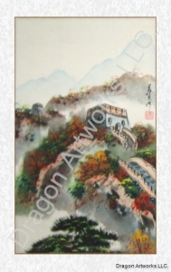 China Chinese Paintings Great Wall of China Fall Colors Brush Painting on sale