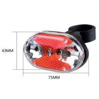 China 9 RED led multi-function led light for bicycle 7 light modes bicycle lamp on sale