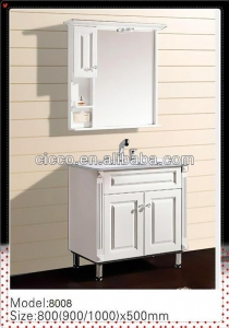 China Waterproof Wooden Dubai Bathroom Mirror Cabinet on sale