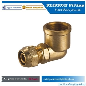 China Small Brass Threaded Swivel Propane Tube Y Tee Elbow Propane Compression Pipe Fittings on sale