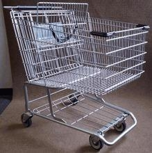 China Shopping Carts small-reconditioned-metal-shopping-cart-1010 on sale