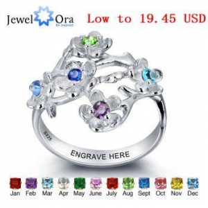 China Best Dropship Product*personalized Five little flower zircon 925 sterling silver ring #RI101964 on sale