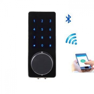 China APP Connect Bluetooth Electronic Smart Door Lock Touch Screen Keypad Code+Key+Bluetooth on sale
