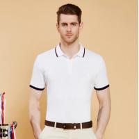 Latest White Color 100% Heavy Cotton Pique Men Embroidery Polo Shirt