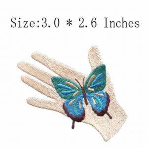 China Buterfly In Hand Embroidery Patch on sale