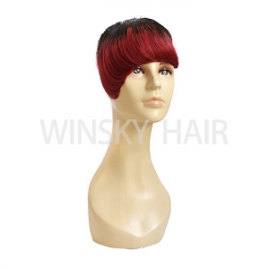 China No Chemical Brazilian Human Hair Fringes Pretty Looking Bangs with Lace 1b/Wine on sale