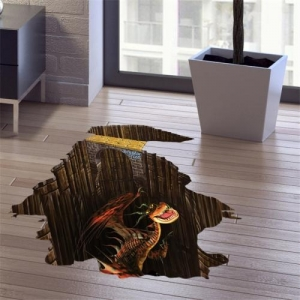 China 3D Home Decor Underground Dinosaur Pattern Removable Wall Stickers, Size: 60cm x 90cm on sale